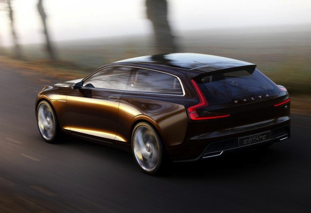Volvo Concept Estate driving-rear