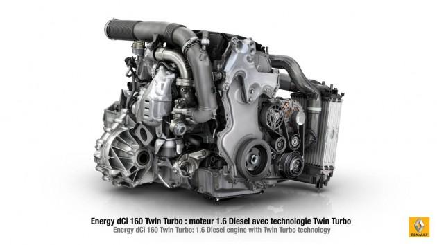 Renault twin-turbo 1.6-litre diesel engine