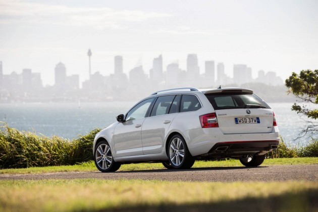 2014 Skoda Octavia RS wagon-rear