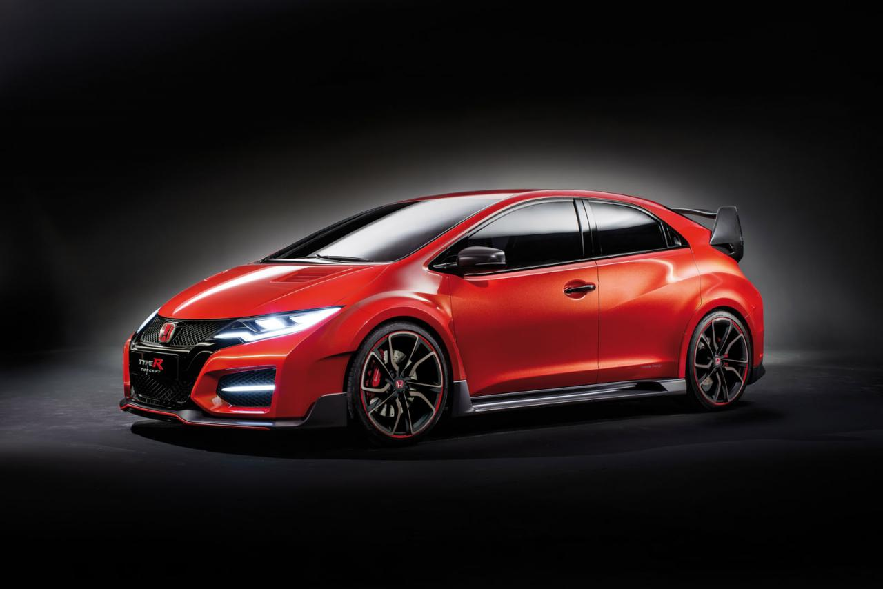 2015 honda civic type r concept blasts into geneva. Black Bedroom Furniture Sets. Home Design Ideas