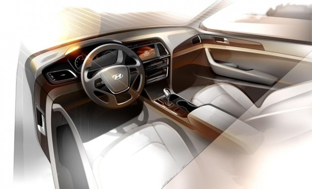 2015 Hyundai Sonata interior preview