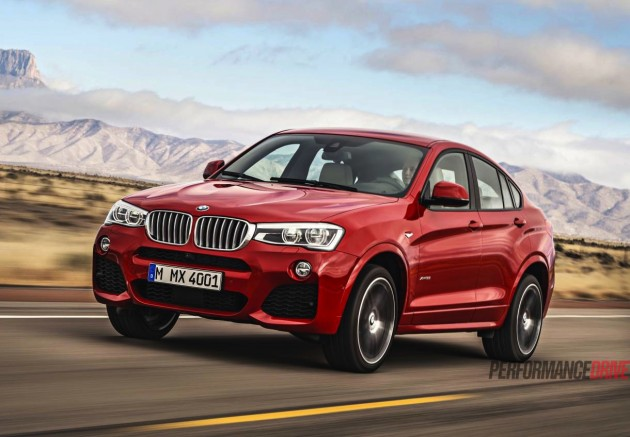 BMW X4 production version-red
