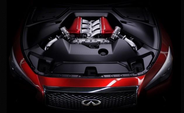 Infiniti Q50 Eau Rouge concept-engine