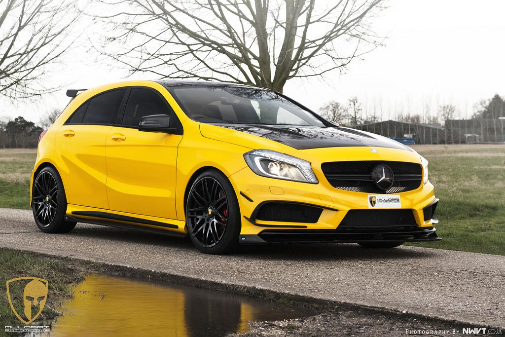 revozport brightens up the mercedes benz a 45 amg performancedrive. Black Bedroom Furniture Sets. Home Design Ideas