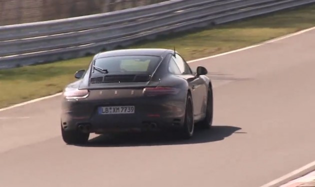 2015 Porsche 911 prototype four-cylinder maybe-rear