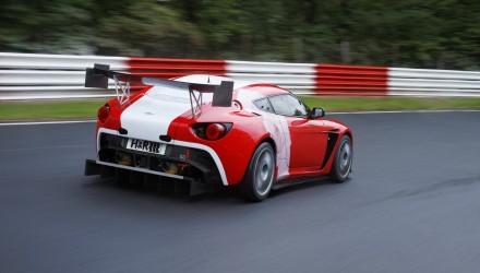 Aston Martin V12 Zagato at Nurburgring-red rear