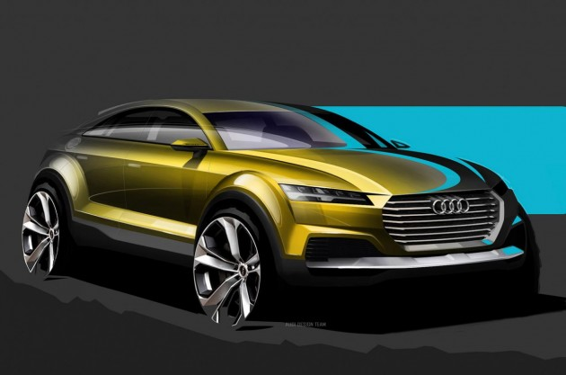 Audi Q4 concept sketch