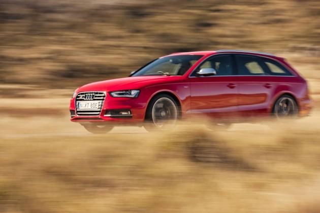 Audi S4 Avant driving