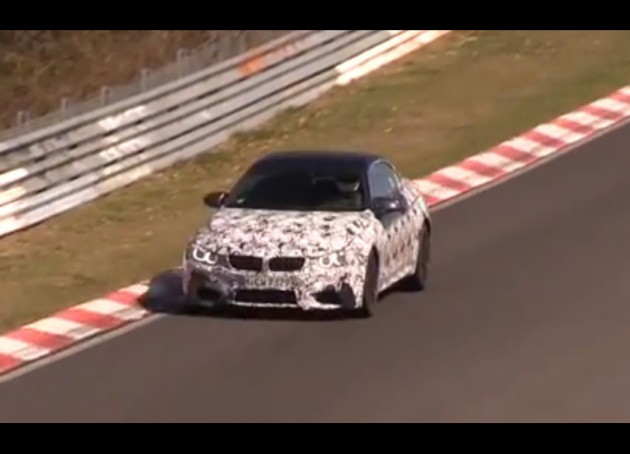BMW M4 convertible prototype Nurburgring