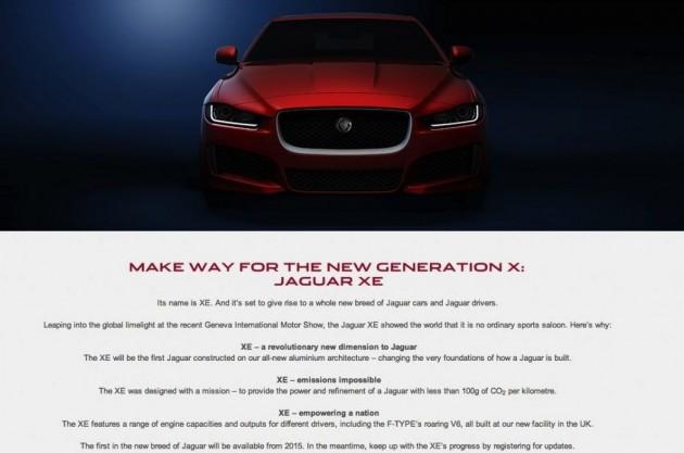 Jaguar XE flyer