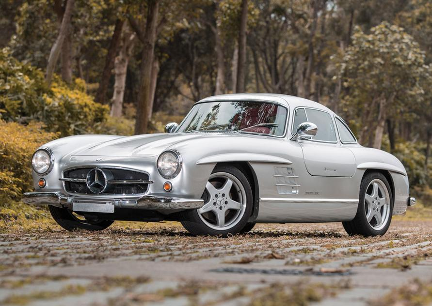 For sale 1954 mercedes benz 300sl gullwing with amg v8 for Mercedes benz 300 sl