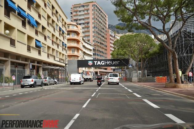 2014 Monaco Monte Carlo F1 track-start finish line