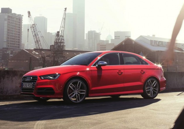 Audi S3 sedan-red