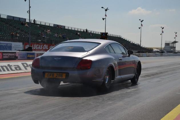 Bentley Continental GT drag car-rear