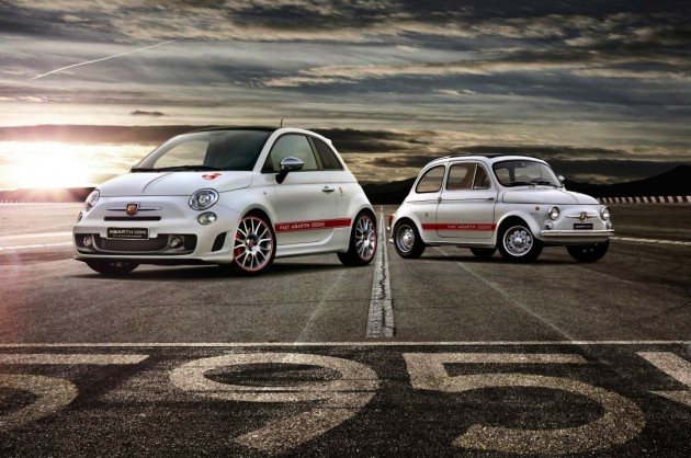 Fiat Abarth 595 50th Anniversary-with old