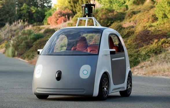 Google car-no steering wheel