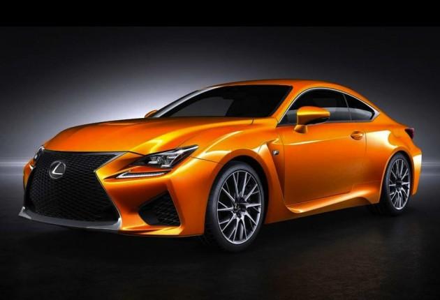 Lexus RC F in new orange
