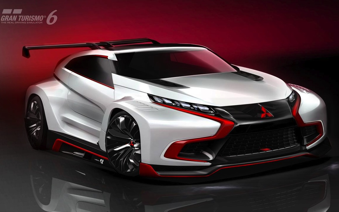 mitsubishi xr phev evolution vision gran turismo futuristic evo performancedrive. Black Bedroom Furniture Sets. Home Design Ideas