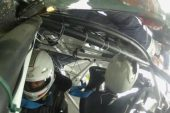 Renault Clio R3 rally car crashes, in-car footage