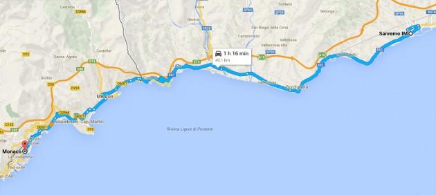 Sanremo to Monaco