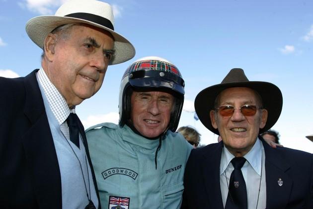 Sir Jack Brabham, Sir Jackie Stewart, Sir Stirling Moss