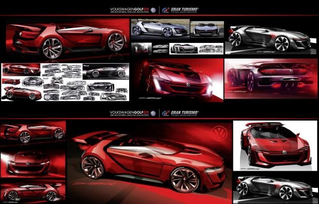 Volkswagen Golf GTI Roadster Vision Gran Turismo concept