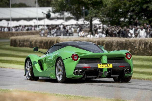 2014 Goodwood Festival of Speed-green LaFerrari rear