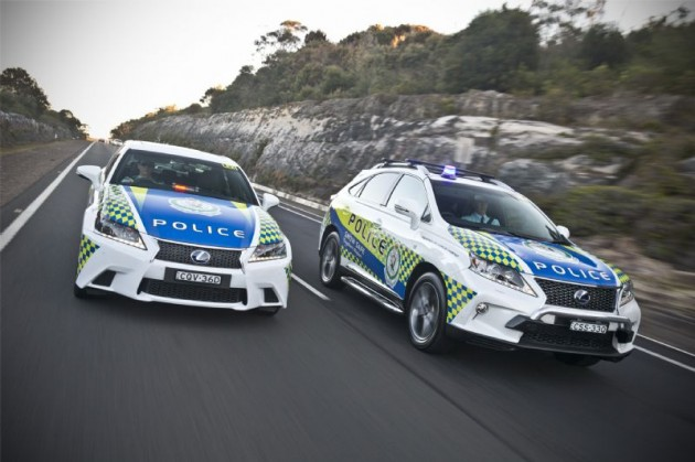 Lexus GS and RX 450h police cars