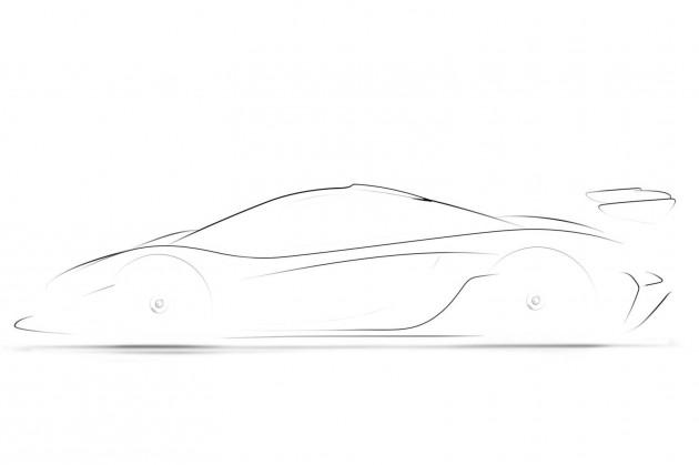 McLaren P1 GTR sketch