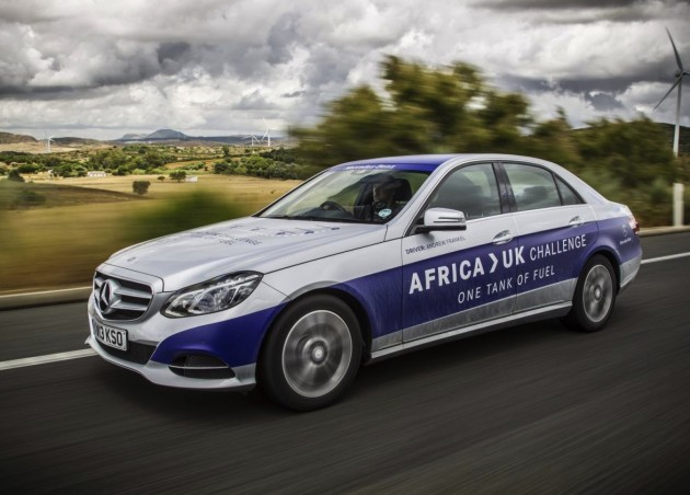 Mercedes-Benz E 300 BlueTEC Hybrid Africa to UK