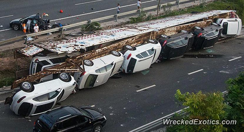 Porsche Macans Ruined In Truck Crash In China