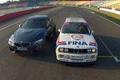 2014 BMW M3 vs 1992 BMW M3 DTM racer