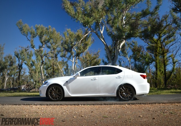 2014 Lexus IS F-burnout