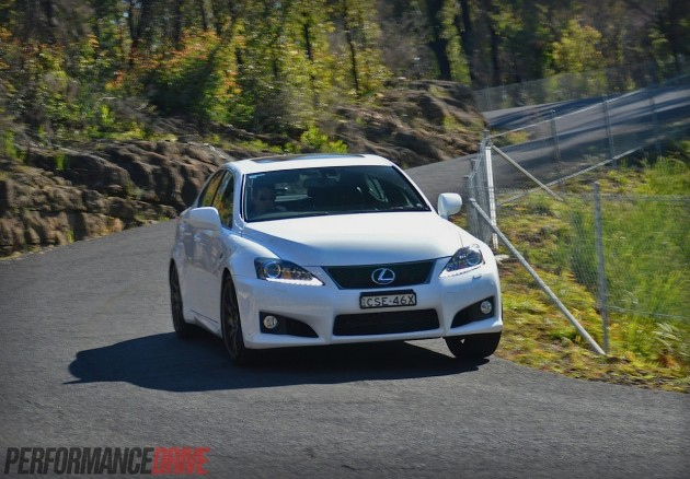 2014 Lexus IS F-cornering