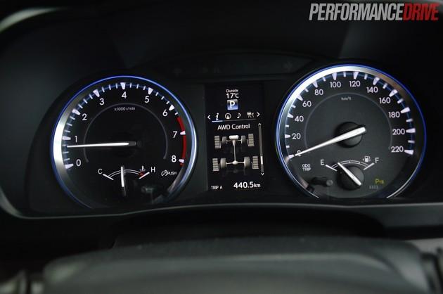 2014 Toyota Kluger Grande-instrument cluster