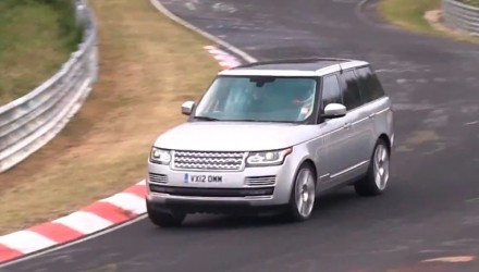 2015 Range Rover at Nurburgring