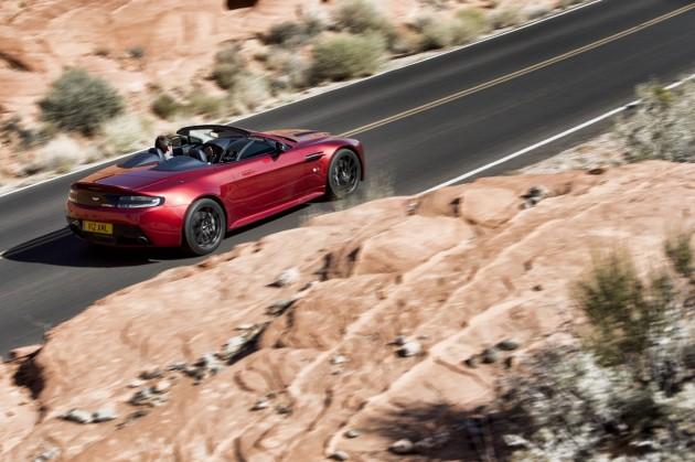 Aston Martin V12 Vantage S Roadster driving