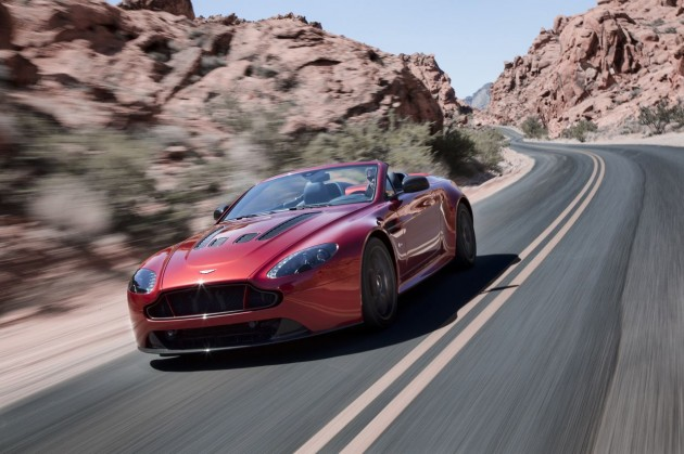 Aston Martin V12 Vantage S Roadster driving front