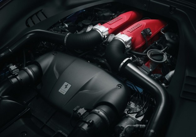 Ferrari California T turbo engine
