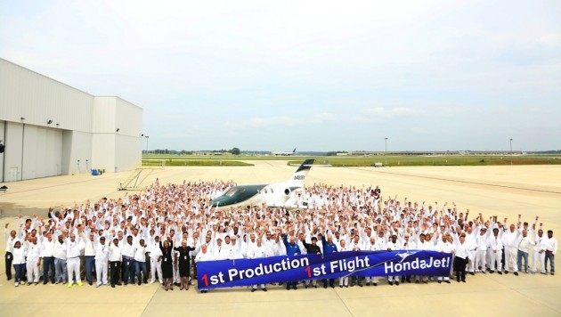 HondaJet first flight