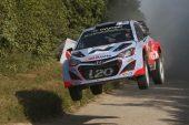 Hyundai takes second podium in its inaugural WRC season