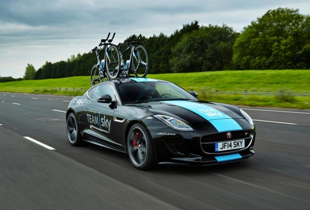 Jaguar F-Type Tour de France support car
