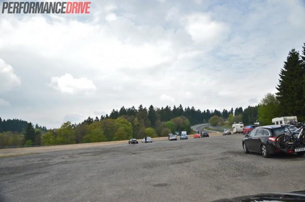 Nurburgring Nordschleife-Brunnchen-carpark