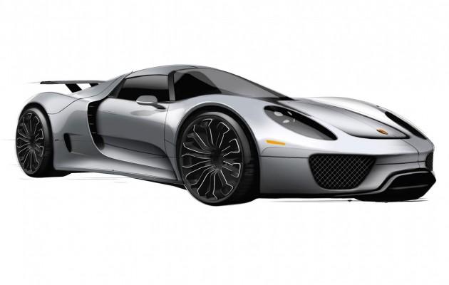 Porsche 918 sketch