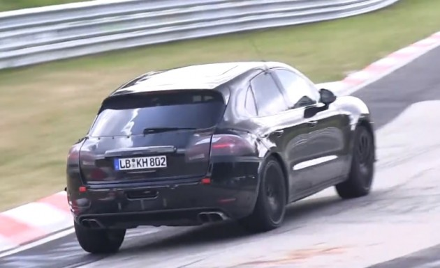 Porsche Macan Turbo S prototype maybe-rear