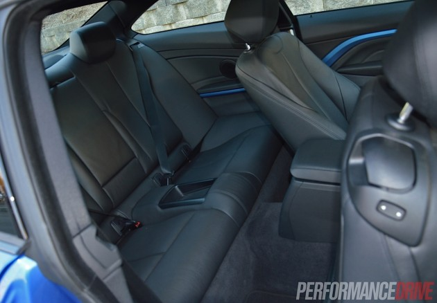 2014 BMW 428i-rear seats
