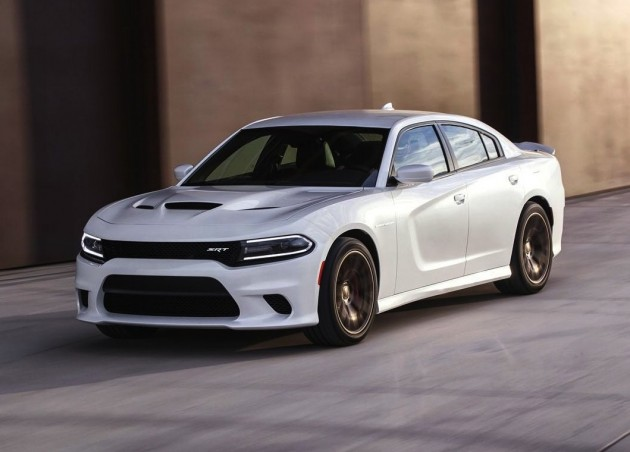 2015 Dodge Charger SRT Hellcat-driving-white