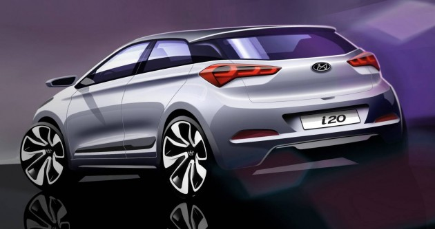 2015 Hyundai i20 sketch-rear