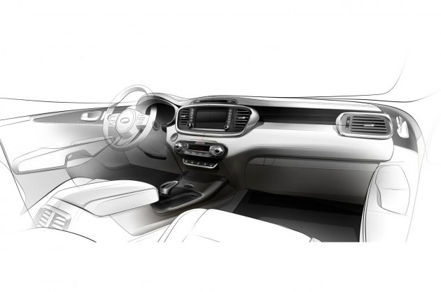 2015 Kia Sorento interior sketch