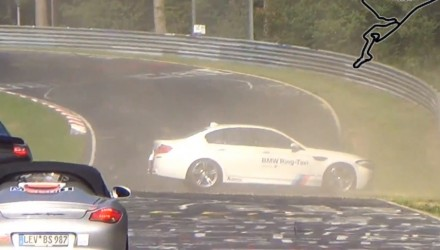 BMW M5 RingTaxi crash 2014